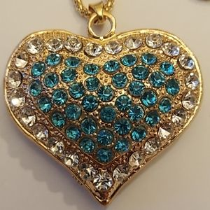 Jewelry - NWOT Large Heart Pendant Necklace / Purse Charm